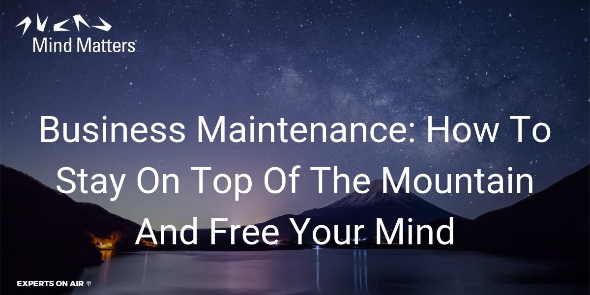 Business Maintenance How To Stay On Top Of The Mountain And Free Your Mind