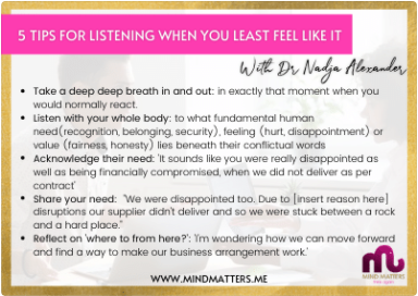 5 Tips For Listening When You Least Feel Like It
